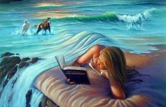 okuyan kadın ve hayal dünyası