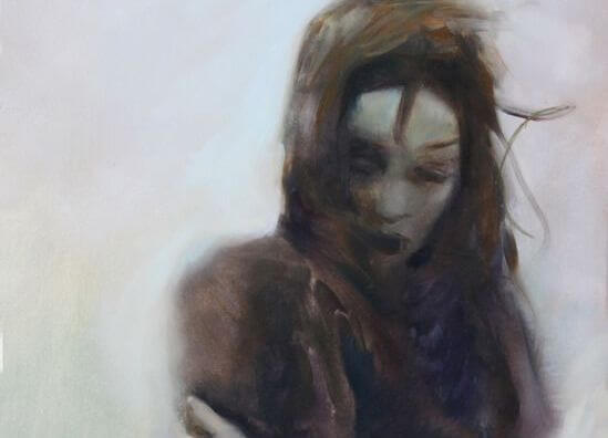 rüzgarda yalnız kadın