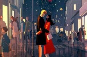 şehirde çift