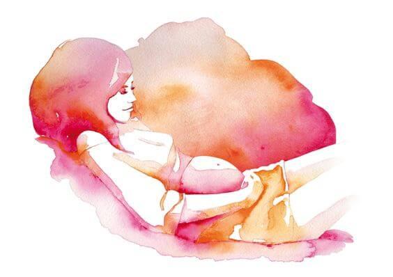 uzanan hamile kadın