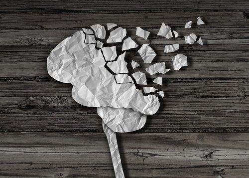 dağılan kağıt beyin