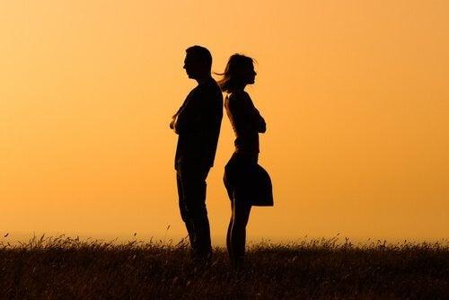 birbirine arkasını dönen çift