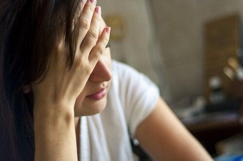 kadın depresyona girmiş
