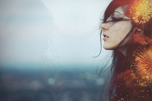 havaifişek saçlı kız