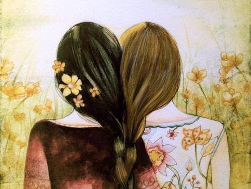 saçları birbirine örülmüş kızlar