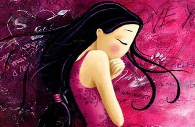 pembeler içinde üzgün kız