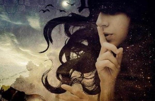 gece saçlı kızın sessizliğe çağrısı