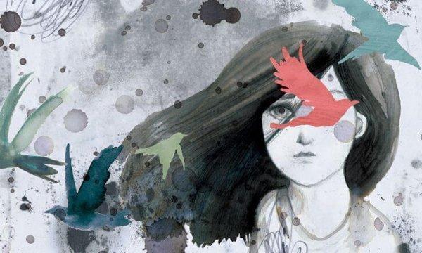 suluboya kız ve kuşlar