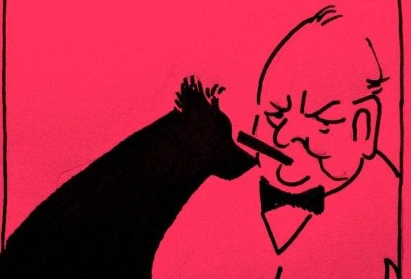 Churchill ve kara köpek