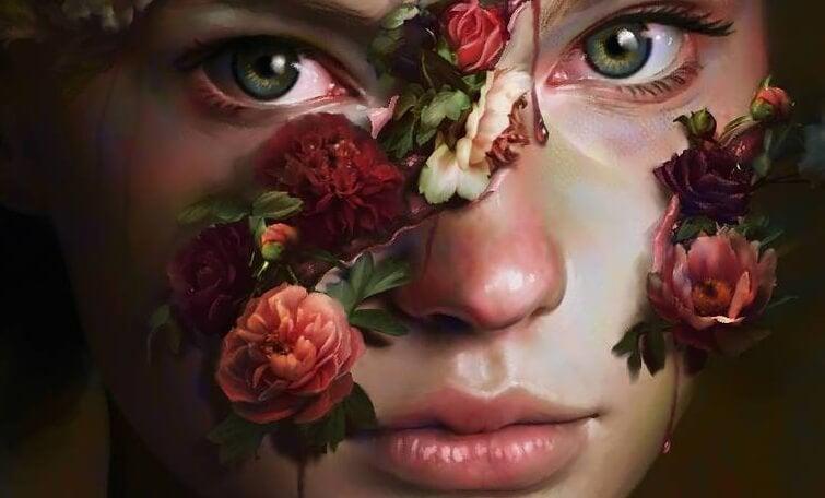 çiçekli surat