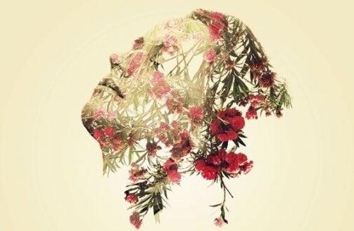 çiçek kafalı adam