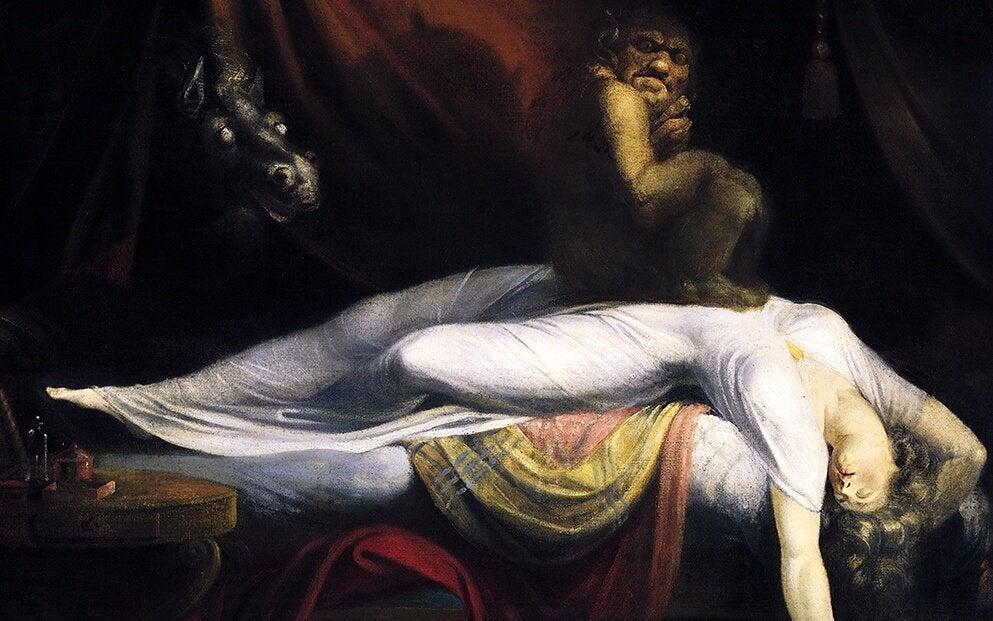kadın rüyasında karabasan görüyor