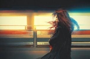kadın treni kaçırmış