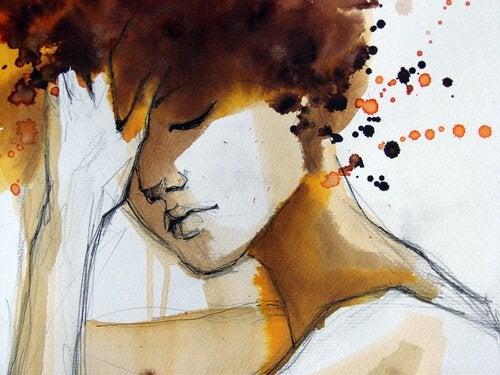 yağlı boya ile kadın tablosu