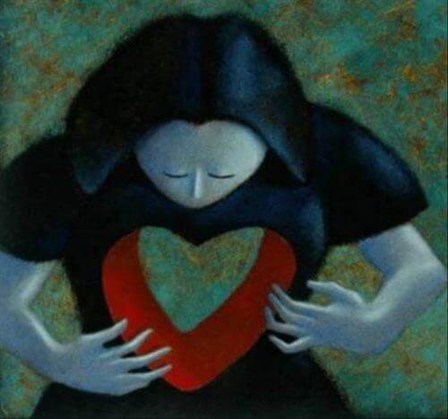 kalbinde boşluk olan kız