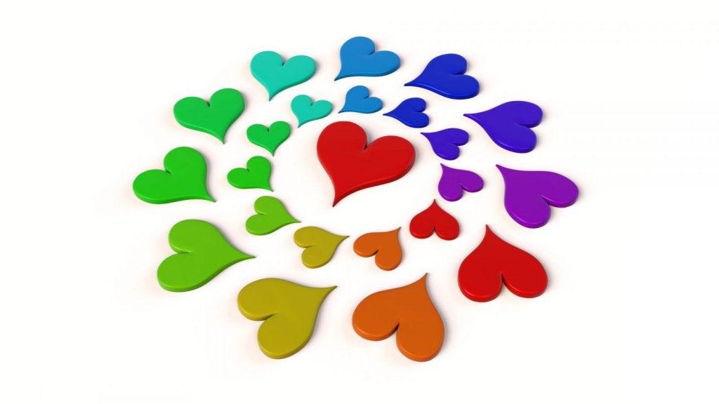 kalpler birleşip kalp olmuş
