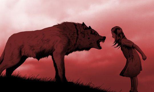 kurt ve kız bağırıyor
