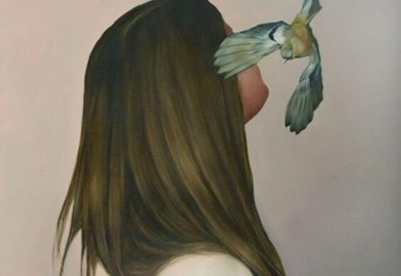 kuş ve kadın