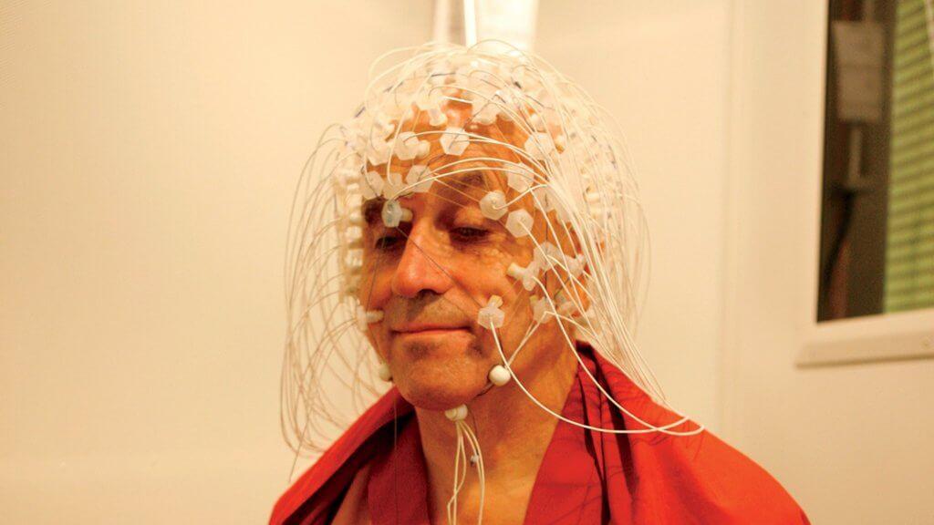 matthieu ricard, elektrotlar takılı bay beyin