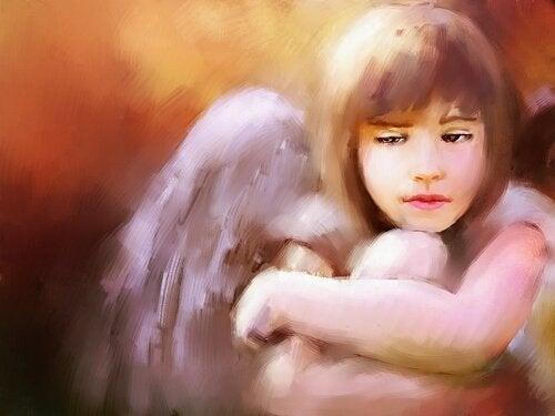 melek kız yağlı boya