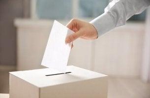 sandıkta oy veren adam