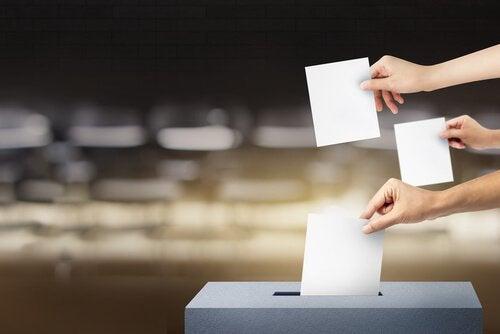 oy veren insanlar