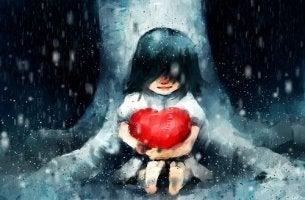 kalbe sarılmış kız