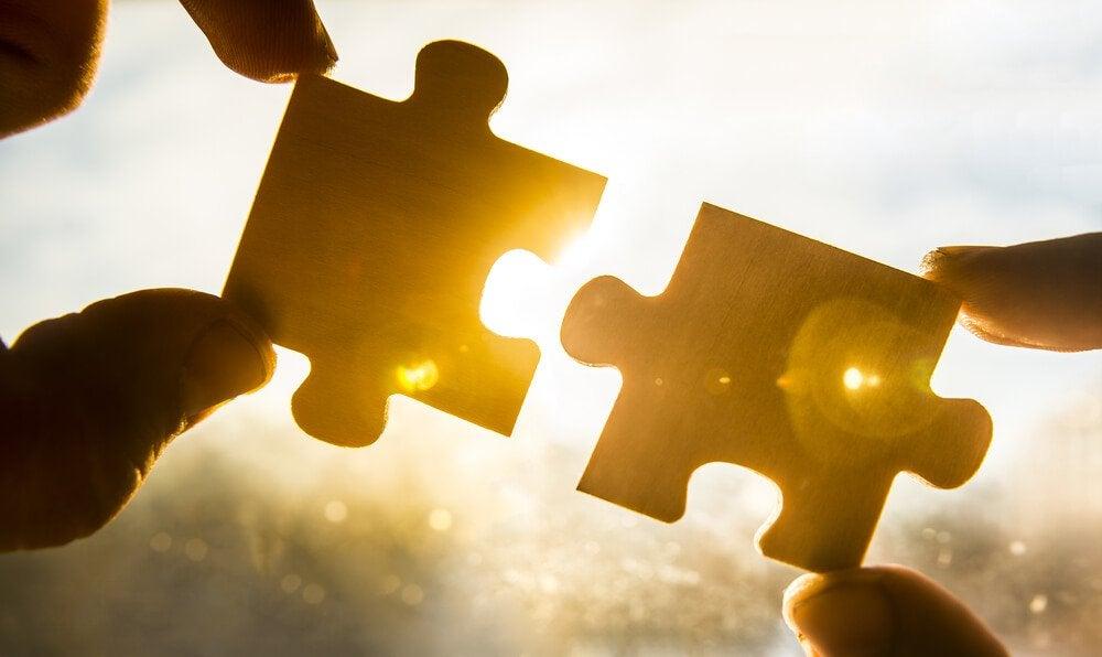 iki puzzle parçası