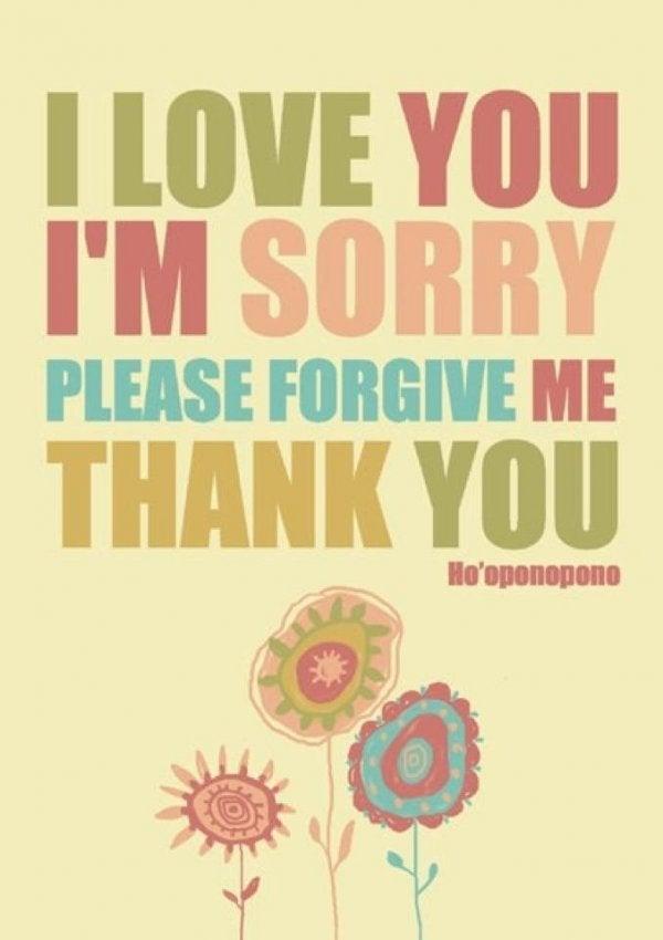 seni seviyorum teşekkürler ho'oponopono