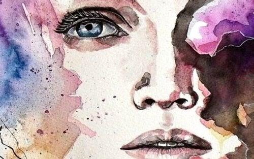 sulu boya kadın