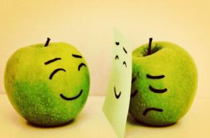 mutlo ve üzgün elmalar