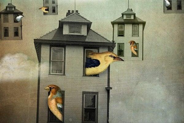 yuvalarından çıkan kuşlar