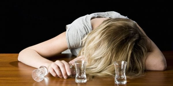 alkolik kadın
