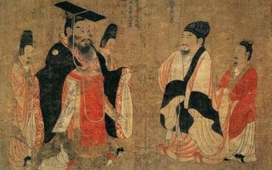 antik Çin motifli duvar kilimi