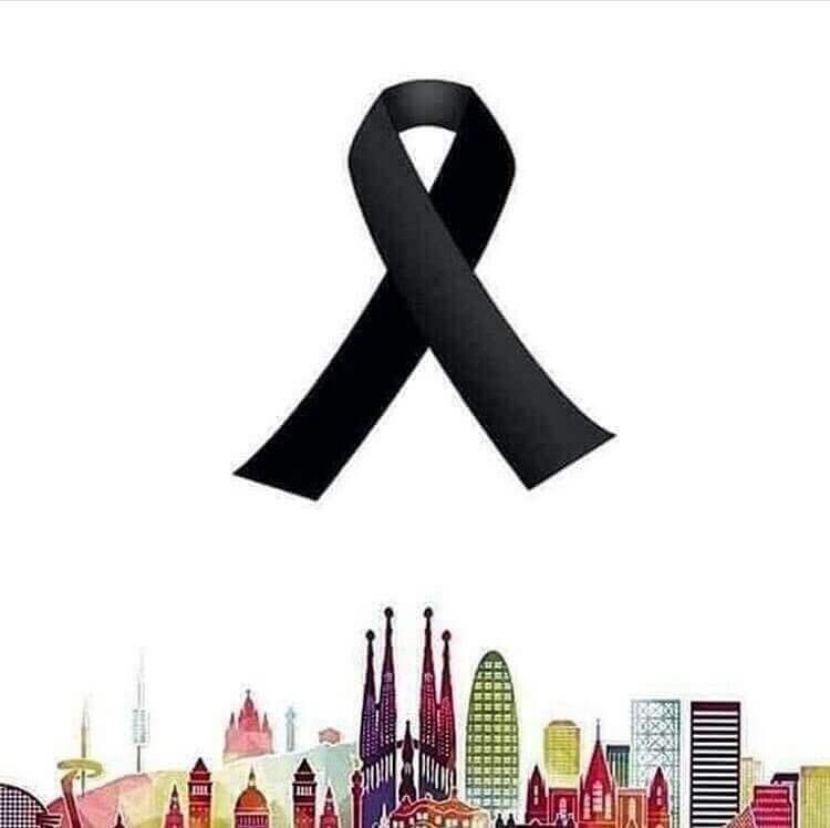 Barselona için dayanışma kurdelesi