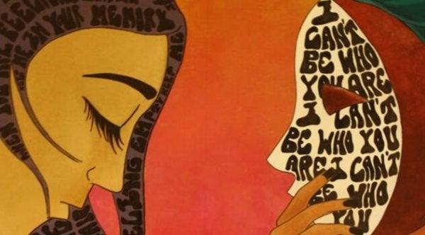 yazılı saçlar ve maskeler