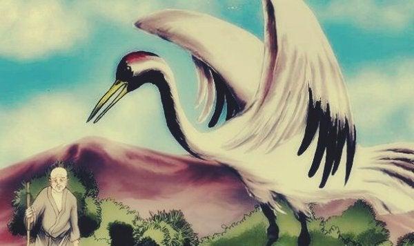 büyük turna kuşu ve yaşlı bilge