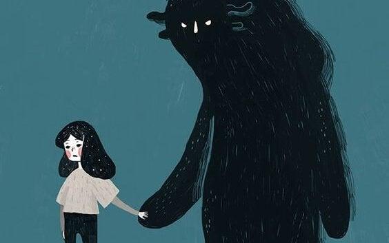 korkusuyla el ele kız