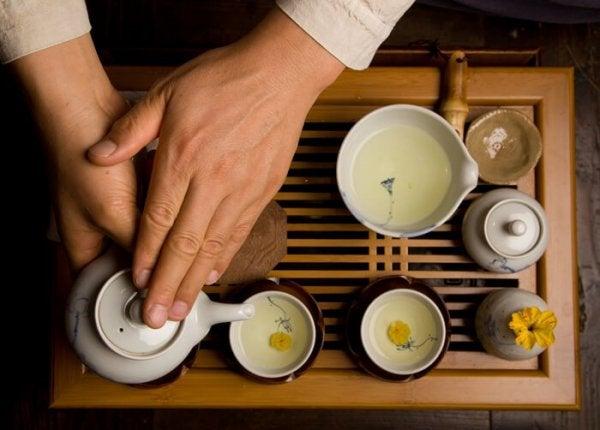 yeşil çay servisi