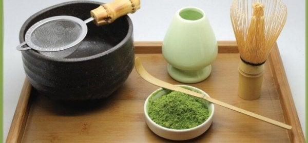 yeşil çay seti