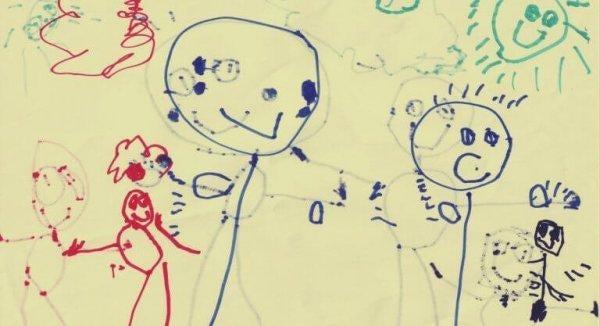 çocuk tarafından çizilen figürler
