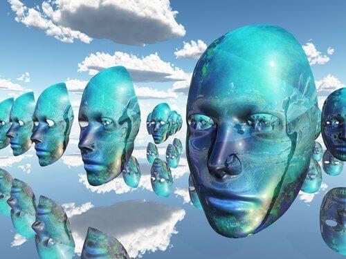 gökte sıra sıra mavi maskeler