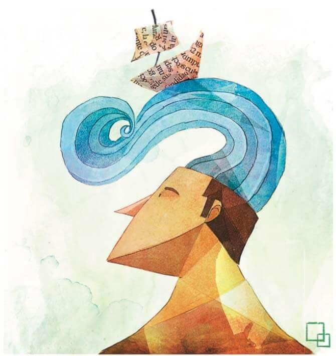 kafasında yelkenliyle yüzmek olan adam