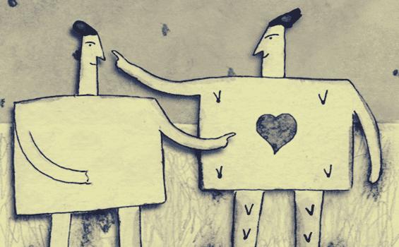 dört köşe sevgili çizimi