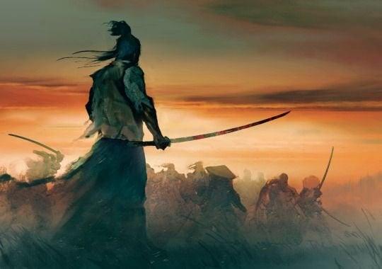 savaşta bir samuray