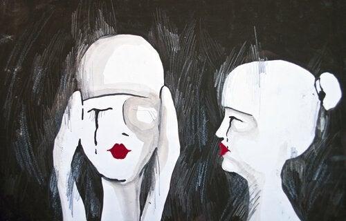 ağlayan bir erkek ve kadın ekpati nedir