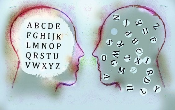 içinde harfler olan insan yüzleri