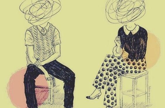 ilişkiler hakkında çizim