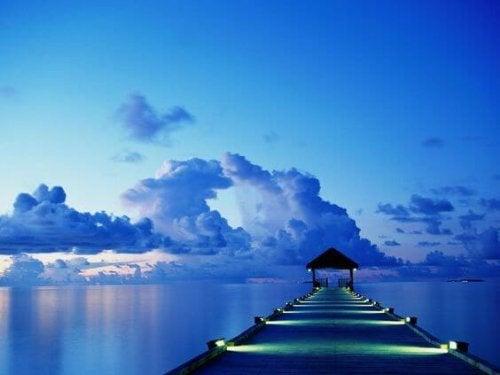 mavi iskele manzarası