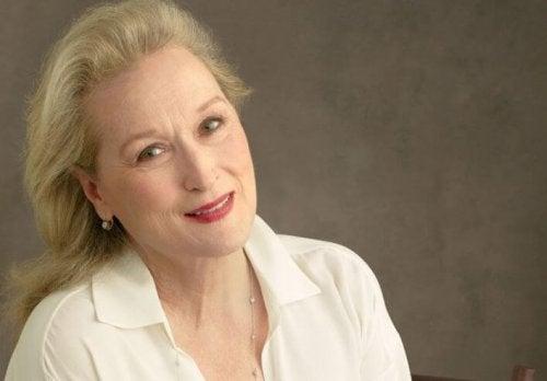 Meryl Streep beyaz tişörtüyle